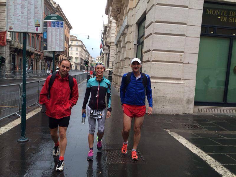 maraton de roma a la salida